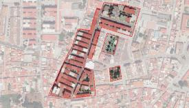 Una imagen aérea de la zona beneficiada en La Línea