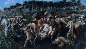 La muerte de Maceo fue celebrada en el Campo de Gibraltar. Cuadro del artista cubano Antonio Menocal