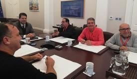 Dirigentes de ASCTEG junto a Fabian Picardo, en una imagen de archivo