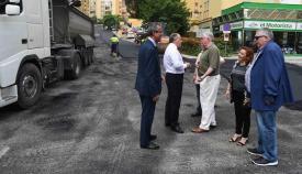 Una imagen de archivo de otros trabajos de asfaltado en Algeciras. Foto: NG