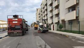 Imagen de las obras de asfaltado de un plan anterior
