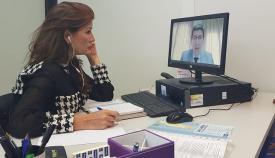 Mercedes Atanet durante su reunión con el vicepresidente de la Junta