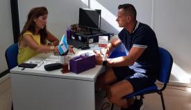 Mercedes Atanet y Santi Macías, en su reunión de este martes