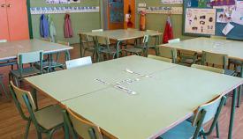 Imagen de archivo de aulas escolares vacías. Sergio Rodríguez