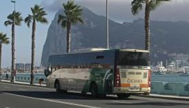 Un autobús en La Línea de la Concepción.