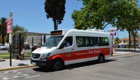Un autobús del servicio urbano de San Roque