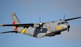 Avión desplegado para las tareas de búsqueda. Foto: Salvamento Marítimo