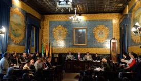 Imagen de archivo del Salón de Plenos del Ayuntamiento de Algeciras
