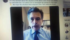 El líder del GSD valorando la situación por el Covid en su Twitter. Foto NG