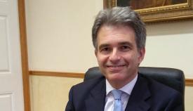 Keith Azopardi, líder del GSD, durante la entrevista