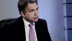 Azopardi en su intervención en la televisión pública. Foto NG