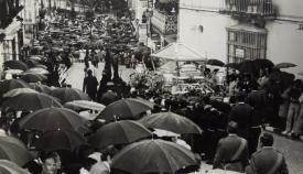 Histórica imagen de la Magna bajando la calle San Felipe