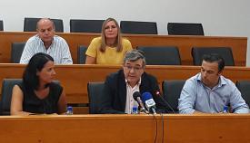 El presidente de Mancomunidad, Luis Ángel Fernández, durante su balance de gestión
