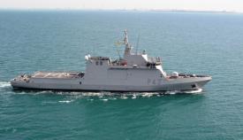 El BAM 'Relámpago', alistado para patrullar la zona del Estrecho. Foto: EMAD