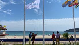 Las playas de Algeciras ya lucen la bandera de Espacios sin Humo