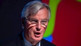 Michel Barnier, tras la reunión con la Comisión Europea