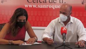 Belén Jiménez y Juan Manuel Ordóñez, ediles sanroqueños. Foto: sanroque.es