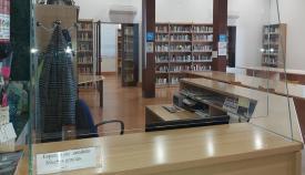 Entrada a la Biblioteca Municipal de La Línea. Foto: NG