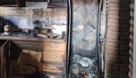 Imagen de la cocina donde se produjo el incendio