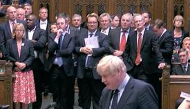 Boris Johnson habla al Parlamento