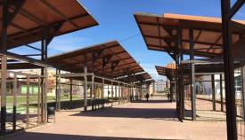 Imagen del denominado bulevar, que es donde se instalarán los puestos del mercado.