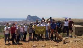 Españoles y británicos, entre los participantes en la ruta. Foto MSR