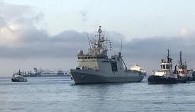 El Audaz, llegando al puerto de Crinavis, en San Roque. Foto: Sergio Rodríguez