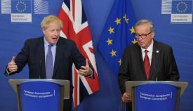 Boris Johnson y Jean Claude Juncker, en una imagen de archivo