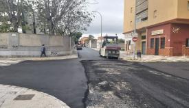 Los trabajos han finalizado ya en la calle Almendro de La Línea