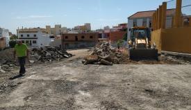 La Junta inicia las obras de reurbanización en la calle Bombita de Algeciras