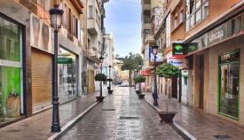 Una imagen reciente de la Calle Real de La Línea de la Concepción