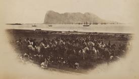 Concentración de Calpe Hunt para la caza del zorro, 1879