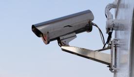 Una cámara de videovigilancia