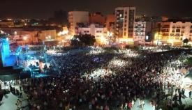 Imagen del concierto del domingo difundida por el Ayuntamiento de La Línea