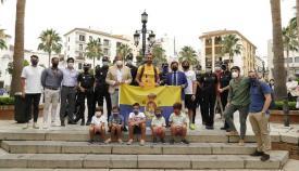 Arranca el reto solidario 'Objetivo Santiago' del algecireño Pedro Hidalgo