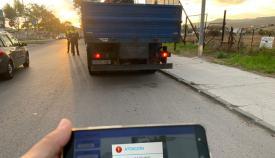 El camión interceptado por la Policía Local de Algeciras. Foto: Ayto Algeciras