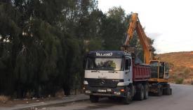 Uno de los camiones que se encuentra hoy en la zona