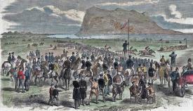 La concurrida hípica de Campamento en 1870