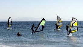 Una actividad deportiva en el mar. Foto: NG