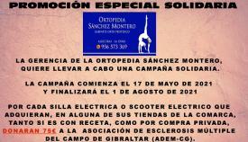Ortopedia Sánchez Montero hace una campaña solidaria favor de ADEM