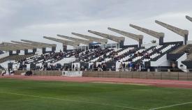 Estado actual del Estadio Municipal de La Línea. Foto: NG