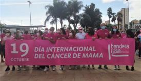 Responsables de 'Bandera Rosa' y concejales de Algeciras. Foto: algeciras.es