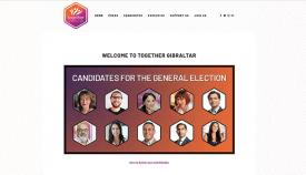 Imagen de los candidatos en la web de TG