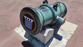 Ejemplo de cómo han quedado los cañones. Foto GG