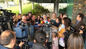 Fernando Grande-Marlaska, número 1 del PSOE por Cádiz, hoy en Algeciras