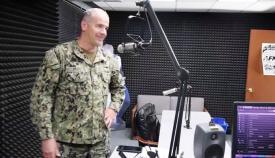 El capitán Baird en una de sus habituales comparecencias en el 'Virtual Town Hall' a través de la AFN Rota. Foto Facebook US Naval Station Rota