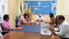 Un momento de la reunión en el Ayuntamiento de Algeciras