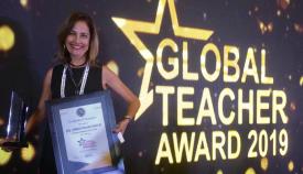 La docente algecireña Palma García, premio Plaza de España 2019
