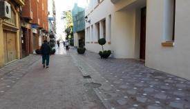 Un tramo ya peatonalizado de la calle Carboneros