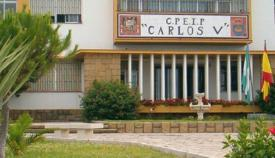 Entrada principal al CPEIP 'Carlos V' de La Línea
